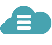 icon of cloud with hamburger menu