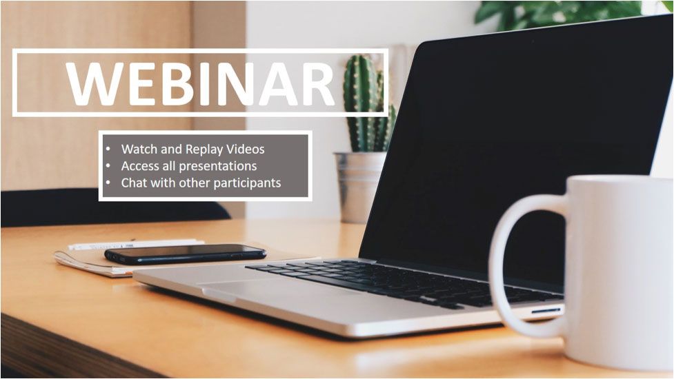 webinar watch and replay videos access all presentations chat with other participants